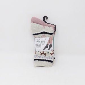 2 Pack Veneto Collection Ladies Soft Crew Socks